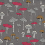 Michael Miller Fabric Champignons-Sweet Mushrooms DC8319-Truffle-D