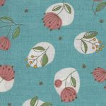 Mina Made In Japan Cotton Fabric 148-1225 Colour E2 Teal
