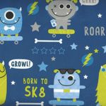 Minky Monster Wide From E.Z. Fabric Inc. SK8 Des 1 Colour Navy