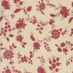 Moda Fabric Elinors Endeavor by Betsy Cutchian M31611-19 Cream/Red.