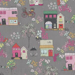 Moments By Minki Kim for Riley Blake Fabrics Pattern C9011 Colour Gray Houses/Ca
