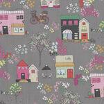 Moments By Minki Kim for Riley Blake Fabrics Pattern C9011 Colour Gray Houses/Ca