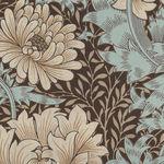 Morris And Co. Merton Pattern Chrysanthemum Color Aqua PWWM009.Aquax