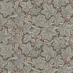 Morris & Co. Granada Cotton Fabric for Free Spirit PWWM056.Charcoal. Bramble.