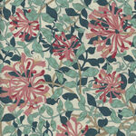 Morris & Co. Granada Cotton Fabric for Free Spirit PWWM057. Aquax. Honeysuckle.