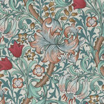 Morris & Co Standen from Free Spirit PWWM 028. Color Autumn. Pattern Golden Lily