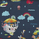Noah's Ark By Shawn Wallace for Riley Blake Pattern C9380 Colour Navy