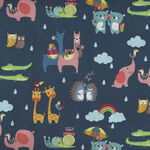 Noah's Ark By Shawn Wallace for Riley Blake Pattern C9382 Colour Navy Two By