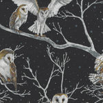 Nocturne by Hoffman International Fabric Owls HP7591 004S