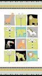"Northcott Safari Swank 24"" Panel Jungle Animals 22398 Color 10"
