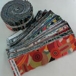 "Nutex Aussie Jelly Roll Precut Strips 2.5"" x 40 width of fabric 44"" 11410."