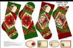 Old Time Christmas Stockings by Liza Bea For Northcott Fabrics DP24145 Color 24.