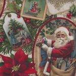 Old Time Christmas by Liza Bea For Northcott Fabrics DP24134 Color 12.
