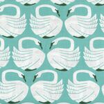 On a Spring Day Loving Swans by Cotton & Steel LV401-WA1 Waterfall.