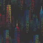 One Of A Kind Skyline by Whistler Studios for Windham Fabrics 50905-1 Black/Mult