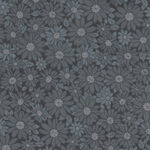 Peaceful Petals by Sarah J For Marcus Fabrics Daisies R47-0589 1043 Charcoal/Gre