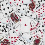 Playing Cards From Timeless Treasures Fabric TTC1451 Colour White.