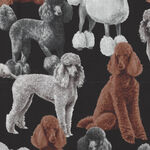 Pure Breeds Poodles by Timeless Treasures Fabrics TTC7527 Black.