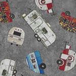 Quilters Road Trip Vintage Caravans by Northcott Fabrics D9192 Colour K
