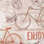 "Quilting Treasures ""Life-Enjoy The Ride"" Bicycles Fabric"