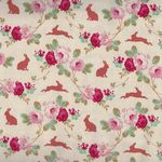 Rabbit And Roses by Tilda Collection 481224 colour linen