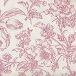 Raspberry and Cream by Marsha McCloskey for Clothworks Toile Y2059-82 Red