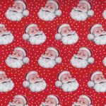 Retro Christmas Style Fabric by Makower D1252 colour- r