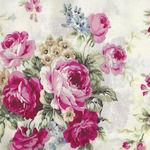 Ruru Bouquet By Quiltgate Fabrics RU2370 11A White/Pink Roses