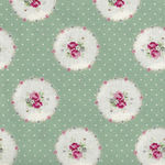 Ruru Bouquet By Quiltgate Fabrics RU2370 14D Green