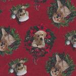 Santa's Helpers by Jason Kirk for Northcott Fabrics DP23539 Colour 24 Red.