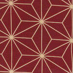 """Sashiko Wide Quilt Backing By Nutex Fabrics 108""""(280cm) 78790 Col.2 Red."""