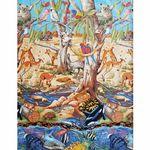 Sea To Sky Australian Continuous Scene from Nutex Fabrics 11670 Colour 101