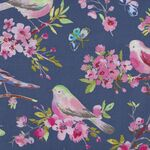 Serendipity By Windham Fabrics 51620-4 Deep Blue With Birds.