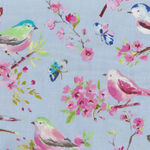 Serendipity By Windham Fabrics 51620-5 Blue With Birds.