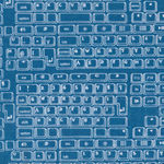 Sevenberry Keyboard Cotton Fabric 850055-D3/3