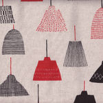 Sevenberry Modern Linen Fabric Light Shades col red