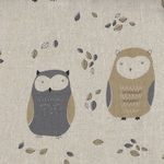 Sevenberry Owls on Cotton/Linen Mix 850214 Colour 2