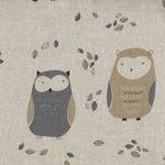Sevenberry Owls on Cotton/Linen Mix 850214 Colour 2