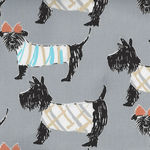Sevenberry Scottie Dogs Cotton/Linen Fabric On Grey 850252 Colour 2