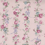 Sevenberry  Floral And Bow Cotton/Linen Pink 87504 Colour 2