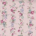 Sevenberry  Floral And Bow Cotton/Linen Pink 87504 Colour 2