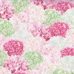 Shades of Violet For Wilmington Fabrics 99129-173 Packed Hydrangeas Green/Pink