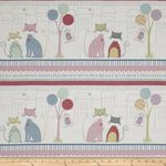 Stof Downtown Kitty Border Fabric 4500 238