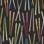 Sushi by Northcott Fabrics 22364 color 49 Chopsticks
