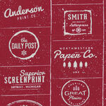 The Print Shop By Sweetwater For Moda Fabrics M5740-31 Red/Text.
