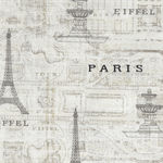 Timeless Treasures Fabrics Paris Theme 4564 Color Cream/Charcoal
