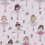 Timeless Treasures Fabrics Tiny Ballerinas Kidz 3817 Pink