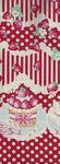 Trefle Kokka Cotton Fabric YKA-59030 1C31 Party Red/Pale Cream