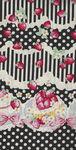 Trefle Kokka Cotton Fabric YKA-59030 1D40 Party Black/Pale Cream