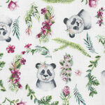 Tropical Zoo from Devonstone Fabric DV3193 White.